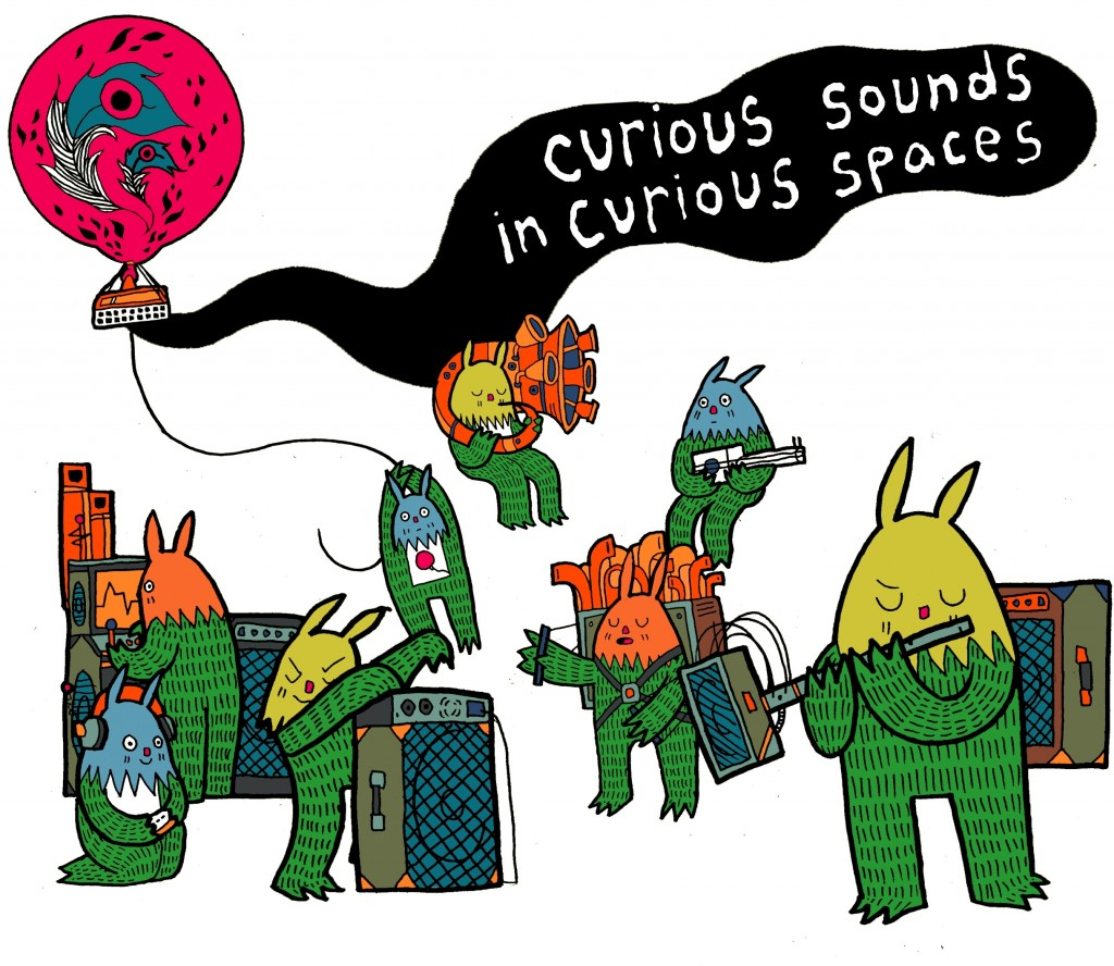 Curious Sounds in Curious Spaces trolls graphic